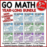 Go Math 5th Grade Resource Bundle for the Year - NON Common Core Version