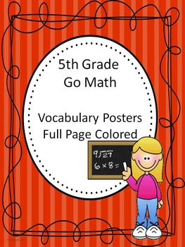Go Math 5th Grade Full Page Colored Vocabulary Posters