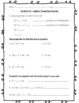 Go Math 5th Grade Worksheets Entire Year Bundle by Joanna ...