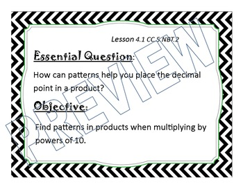 Go Math 5th grade Essential Questions and Objectives, Chapter 4