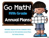 Go Math! 5th grade ~ Yearly Paced Plan aligned with the Common Core. Editable!