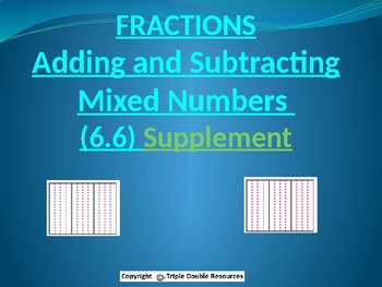 Go Math 6.6 Adding and Subtracting Mixed Numbers