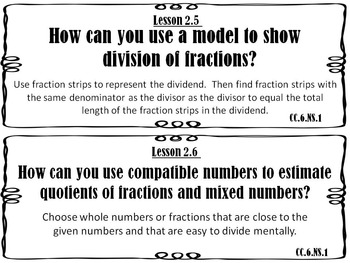 Go Math 6th Grade Essential Questions and I Can Statements