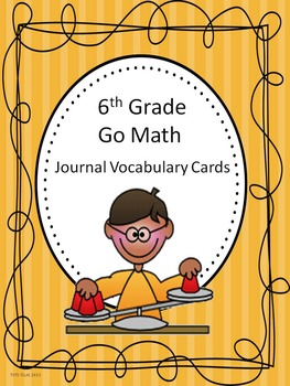Go Math 6th Grade Journal Vocabulary Cards