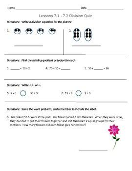 Go Math 7.1-7.2 Division Quiz