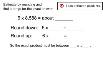Go Math Aligned - Ch 2 Lesson 4 Estimate Products    4.NBT.5