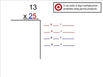 Go Math Aligned - Ch 3 Lesson 4  Partial Products and Bonus Lattice 4.NBT.5