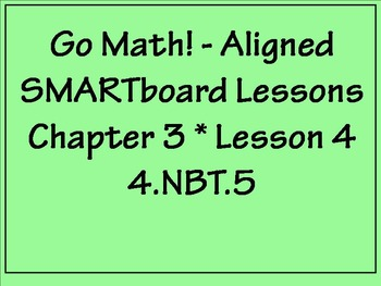 Go Math Aligned - Ch 3 Lesson 4  Partial Products and Bonu