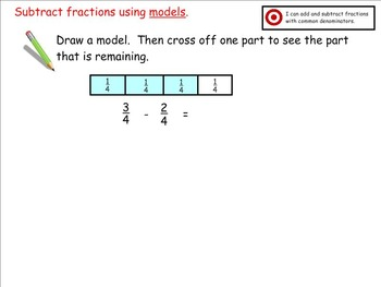 Go Math Aligned - Ch 7  Lessons 3-5  4.NF.3  Add Fractions with Like Denominator