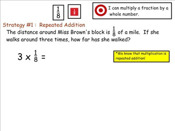 Go Math Aligned - Ch 8  Lesson 1  4.NF.4 Multiply Unit Fractions