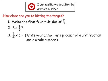 Go Math Aligned - Ch 8  Lesson 2  4.NF.4b Multiply Unit Fractions