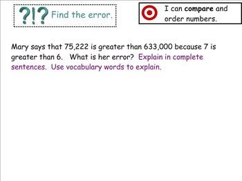 Go Math Aligned Chapter 1 Lesson 3   4.NBT.2