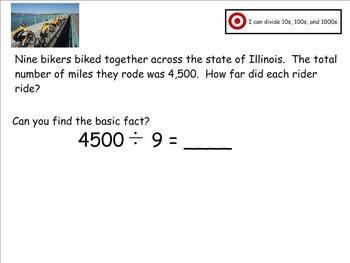 Go Math Aligned - Chapter 4 Lesson 4  Divide Multiples of Ten  4.NBT.6