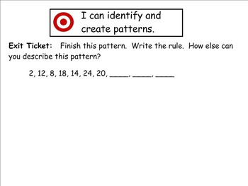 Go Math Aligned - Chapter 5   Lesson 6  Number Patterns  4.OA.5