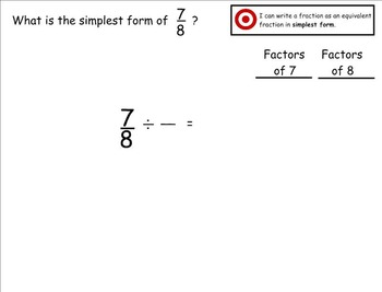 Go Math Aligned - Chapter 6 Lesson 3  Simplest Form
