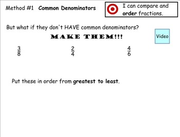 Go Math Aligned - Chapter 6 Lesson 8 4.NF.2  Order Fractions