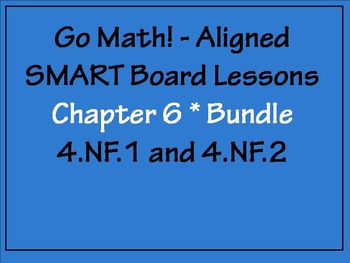Go Math Aligned Chapter 6 Smartboard Bundle  4.NF.1 and 4.NF.2