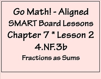 Go Math Aligned - Chapter 7 Lesson 2  4.NF.3b  Decompose Fractions as Sums