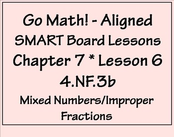 Go Math Aligned - Chapter 7 Lesson 6 4.NF.3b  Fractions an