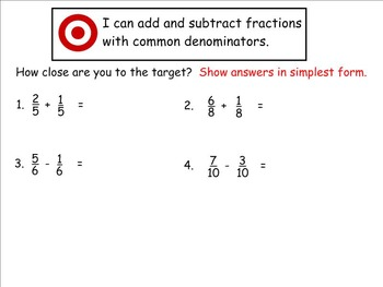Go Math Aligned - Chapter 7 Lesson 1  4.NF.3a  Parts of the Same Whole