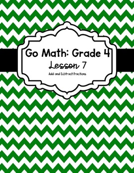Go Math Binder Dividers/Covers: Grade 4