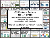 Go Math CCSS Marzano Objectives and I Can Posters for 1st Grade