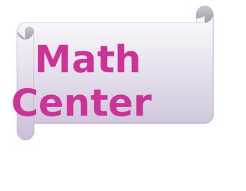Go Math Center Labels
