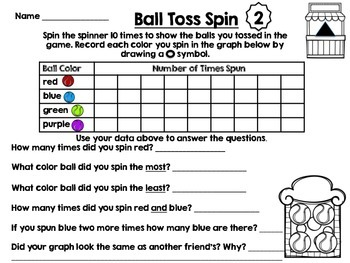 Go Math Grade 1 Chapter 10 centers-graphing