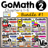 Go Math! Centers - the BUNDLE-Chapters 1-6 for SECOND GRADE