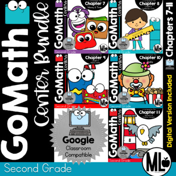 Go Math! Centers - the BUNDLE-Chapters 7-11 for SECOND GRADE