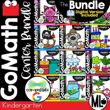 Go Math! Centers - the BUNDLE for KINDERGARTEN