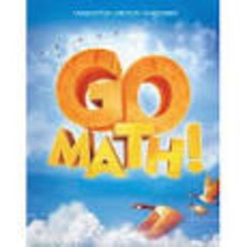 Go Math Ch 5 Detailed Lesson Plans and SmartBoard slides