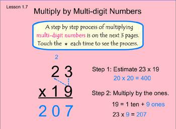 Go Math Chap. 1 Less 1.6 & 1.7 ( Multiply by 1 Digit & Multi-Digit) SMARTBoard