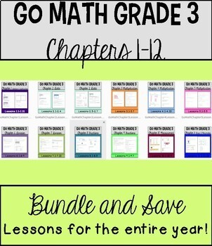 Go Math Chapters 1-12 Lessons Bundle