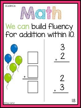 Go Math! Chapter 1 First Grade Focus Wall Free Sneak Peak