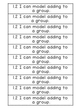 Go Math Chapter 1 Interactive Notebook {GRADE 1}