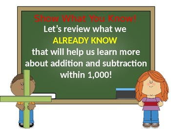 Go Math Chapter 1 Intro Addition and Subtraction Within 1,000 Grade 3 PowerPoint