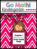 Go Math! Chapter 1 Kindergarten Homework Preview