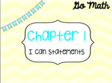Go Math Chapter 1 Kindergarten I Can Statements