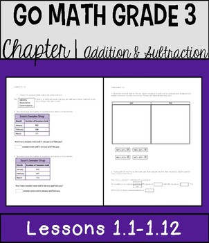 Go Math Chapter 1 Lessons 1-12