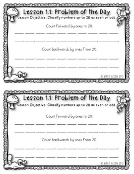 Go Math Chapter 1 Math Journal Pages Grade 2