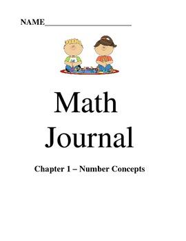 Go Math Chapter 1- Math Journals