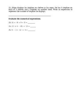 Go Math Chapter 1 Math Test - 5th Grade