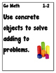 Go Math Chapter 1 Objective Posters