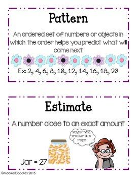 Go Math! Third Grade Chapter 1 Resource Kit: Pretest, Vocab cards, and Journals!