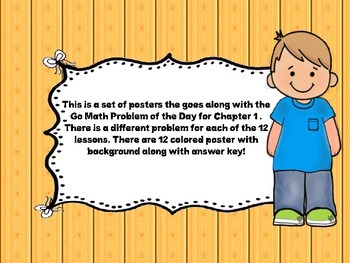 """Go Math Chapter 1 """"Problem of the Day"""" Posters"""