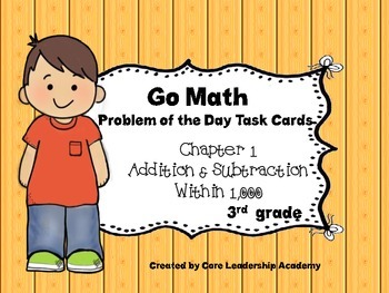 """Go Math Chapter 1 """"Problem of the Day"""" Task Cards"""