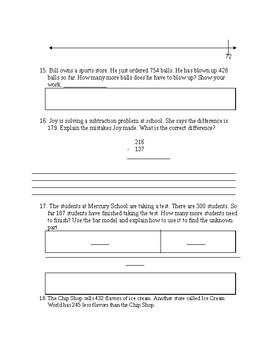 Go Math: 3rd Grade Chapter 1 Review