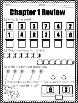 """Chapter 1 Review """"Go Math"""" Including Form: B"""
