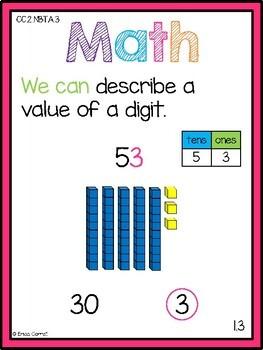 Go Math! Chapter 1 Second Grade Focus Wall